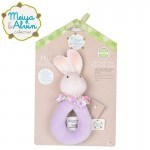 Meiya & Alvin Gryzak z grzechotką Havah Bunny Soft Rattle with Organic Teether Head