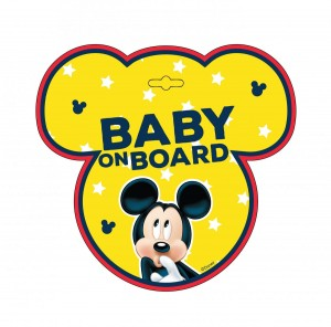 Tabliczka BABY ON BOARD Mickey