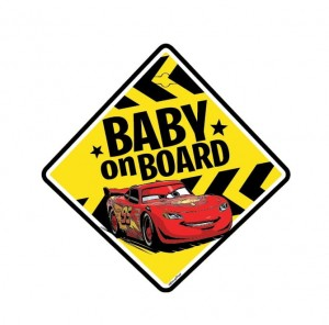 Tabliczka BABY ON BOARD Cars