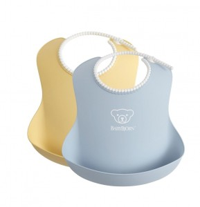 BABYBJORN - 2 śliniaki - Powder Yellow/ Powder Blue
