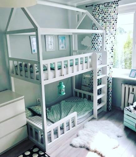 Drewniane łóżko Domek Dla Dzieci Double Mini Różne Wymiary