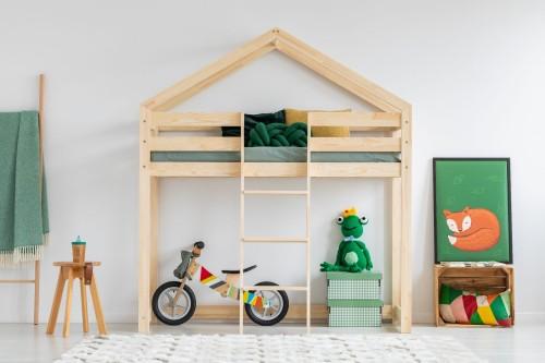 Drewniane łóżko Piętrowe Domek Dla Dzieci Mila Plus Różne Wymiary