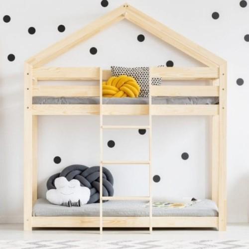 Drewniane łóżko Piętrowe Domek Dla Dzieci Wila Różne Wymiary