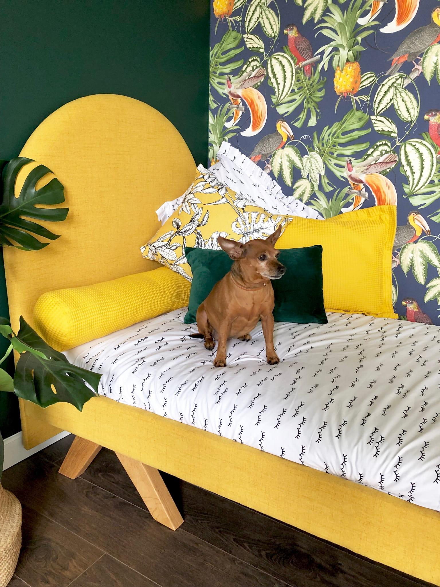 Tapicerowanie łóżko Dla Dzieci Vintage