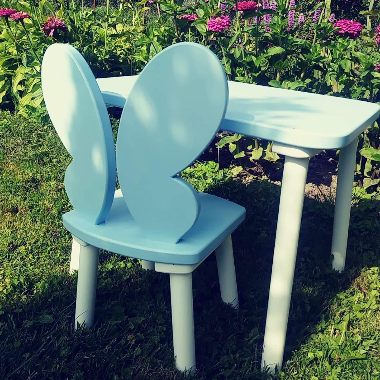 Drewniane krzesełko dziecięce Motyl kolory